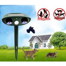 Ultrasonic Solar Cat Repeller Chaser Garden Animal Scarer Deterrent Repellent UD(China (Mainland))