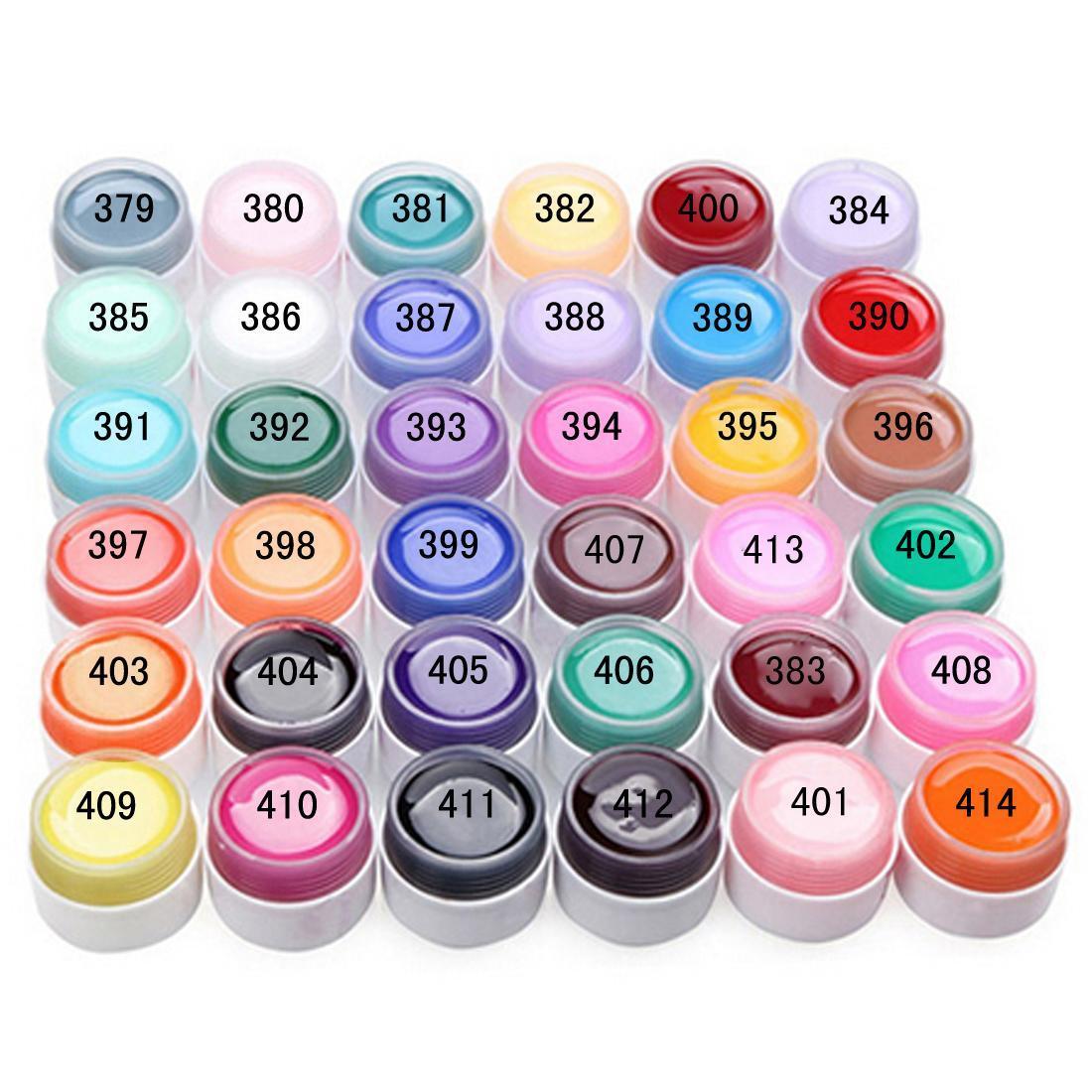 36 Pots Pure Colors Gel Nail Polish UV Nail Art DIY Decoration for Nail Manicure(China (Mainland))