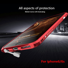 Brand 2016 Aluminum Bumper 6 Cover For Apple iPhone 6 6s 4.7 iPhone6s UltraThin Metal cool Case phone Accessories man gift