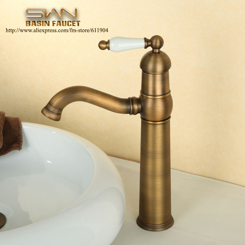 Antique Brass Ceramic Handle 12 Bathroom Faucet Bar Vessel Sink Basin M