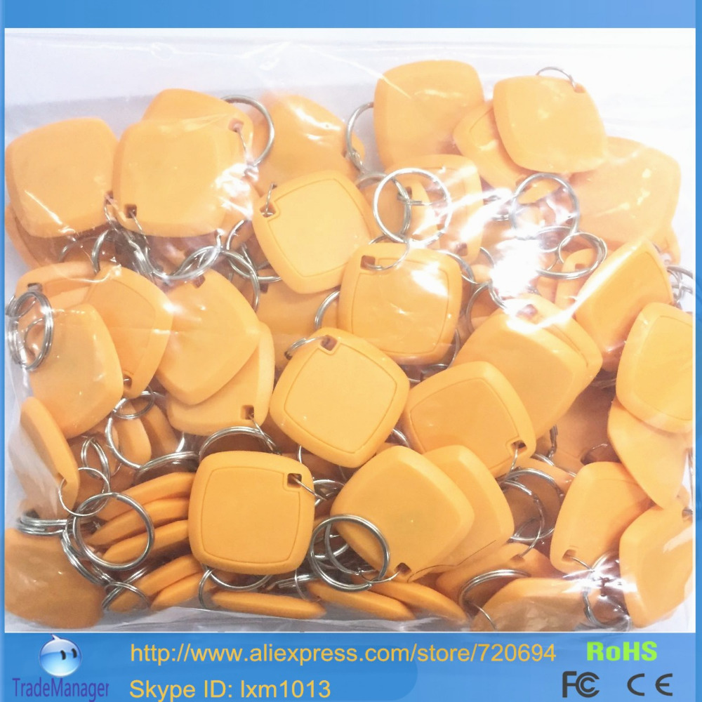 100PCS/Lot Proximity LF/125Khz Smart RFID ID Cards / Keyfobs/Key Chains With EM4305 Chip For Copier EM4100 Chip/ HID card(China (Mainland))