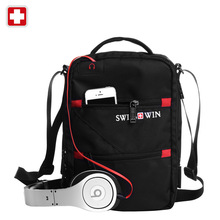 Buy Swisswin Shoulder Bag Small Messenger Bag Tablets Documents Men's Black Handbag 11-inch Crossbody Bags students for $23.40 in AliExpress store