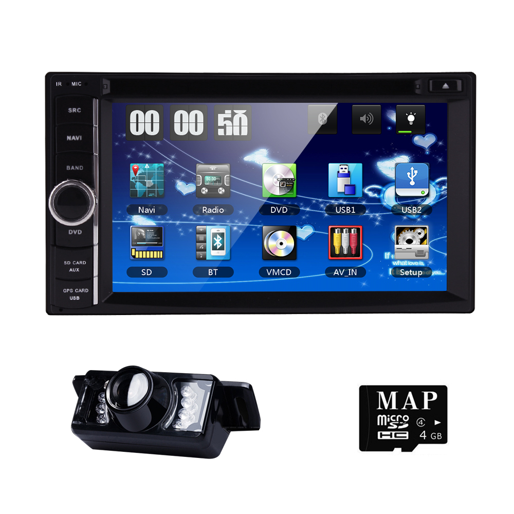 New universal Car Radio Double 2 Din Car DVD Player GPS Navigation In dash Car PC Stereo Head Unit video+Free Map subwoofer(China (Mainland))