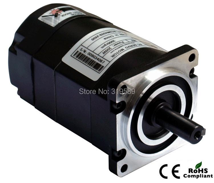 ACM602V36-2500 : New Leadshine ACM602V36-2500 200W Brushless AC Servo Motor with 2,500 -Line Encoder and 4,000 RPM Peak Speed
