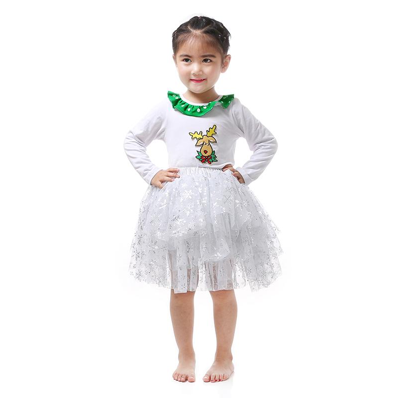 Kaiya Angel Children's Clothing Christmas Deer Full Sleeve Girl Clothing Petti Skirt Set Children Clothing Outifts Children Sets(China (Mainland))
