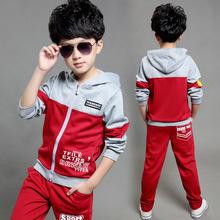 New Autumn Children's Clothing Sets Kids Boy Zipper Clothes Set Child Sport Suits Big Girl & Boy Tops + Pants Letters Sets(China (Mainland))