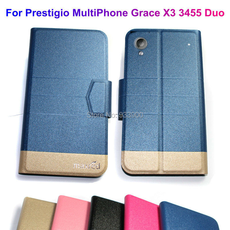 For Prestigio MultiPhone Grace X3 3455 Duo / Ultra Thin Hot Luxury Fashion PU Leather Protection Case Cover / You choose color(China (Mainland))