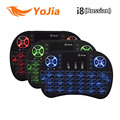 VONTAR i8 English Russian Backlight Mini Wireless Keyboard 2 4GHz 3 color Touchpad Handheld for Android