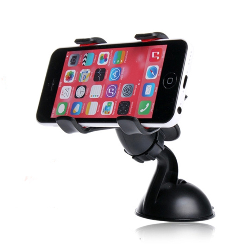 Double clip phone holder for car universal mobile cell phone mount car holder stand for iphone 6/6s plus galaxy S6 Car DVR GPS(China (Mainland))