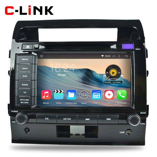 Quad Core 1.6GHz 1024*600 Android 4.4 Car PC Video Player GPS For Toyota Land Cruiser 200 2008-2012 Radio WIFI TV 3G Bluetooth(China (Mainland))