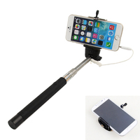 2015 New Audio Cable Wired Pau De Palo Selfie Stick To Self Universal Extendable Monopod Tripe For IPhone Samsung Android Selfi