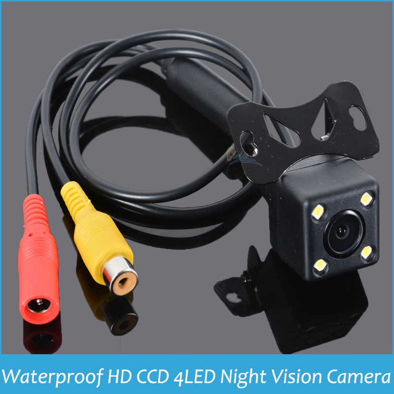 Rear view Camera HD CCD 4 LED Night Vision Waterproof Rear View Camera Wide Angle Universal Parking Camera with Extension Cable(China (Mainland))