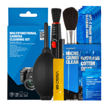 Brand New VSGO Professional Multifunctional Camera Cleaning Kit Lens Cleaning Pen Brush Swab Hurricane Air Blower All in One.(China (Mainland))