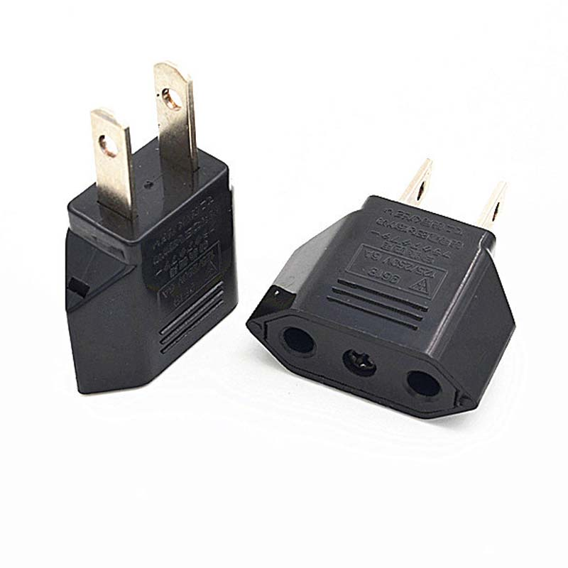 6A Universal Travel Power Plug Adapter EU EURO to US USA Adaptor Converter AC Power Plug Adaptor Connector(China (Mainland))