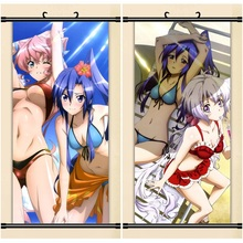 45X95CM Senki Zesshou Symphogear hibiki tsubasa chris art cartoon anime wall picture mural scroll cloth canvas painting poster
