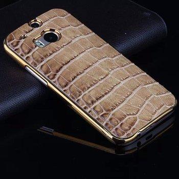 Stylowe etui dla HTC M8 | Luksusowe, skóra krokodyla | HTC M8