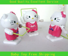 Hot New Fashion 10Pcs/Lot Child Toys Cute Lovely Jumping Hello Kitty Clockwork Toy Kids Wholesale Funny Toys  M620(China (Mainland))