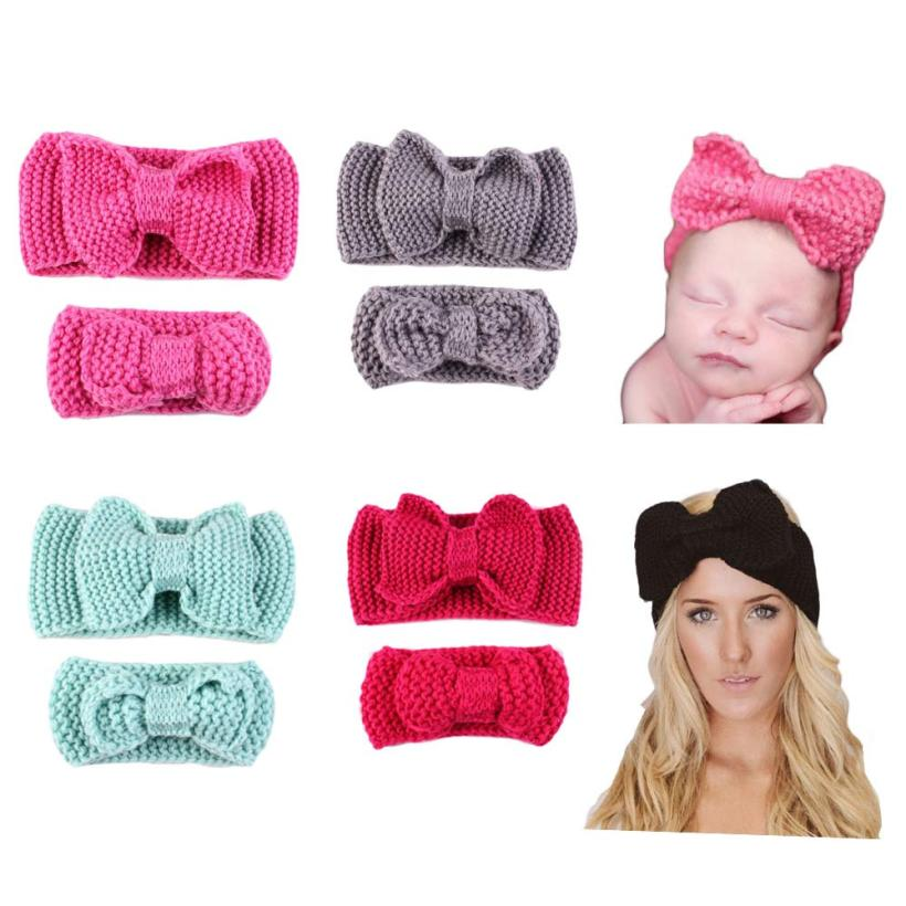 1 Pcs/ Set Girl Head Bands Handmade Crochet Outfits Girls Hair Bows Red Enfeites De Cabelo Infantil #2458(China (Mainland))