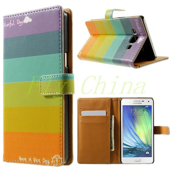 זאב וירח דפוס ארנק עור Case for Samsung Galaxy A5 A500 SM-A500F עם מעמד 1PCS משלוח חינם