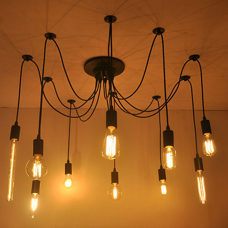 Buy diy edison bulb pendant lights e27 for Lampe suspension ampoule