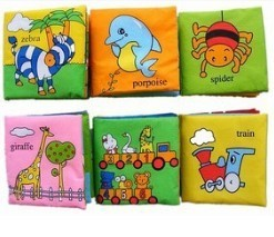 Free shipping children/baby/kid Hot-selling infant child cloth books infant copy set 6 book toy dol(China (Mainland))