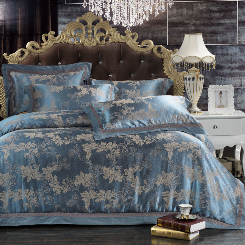 High Quality Luxury Brand Silk Bedding Set 4pcs King Queen
