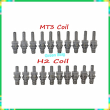 MT3 /H2 Replacable Atomizer Coil 1.8/2.4/2.8 Ohm For MT3 /H2 Cartomizer Clearomizer Replacement Detachable Core Head 5pcs/lot