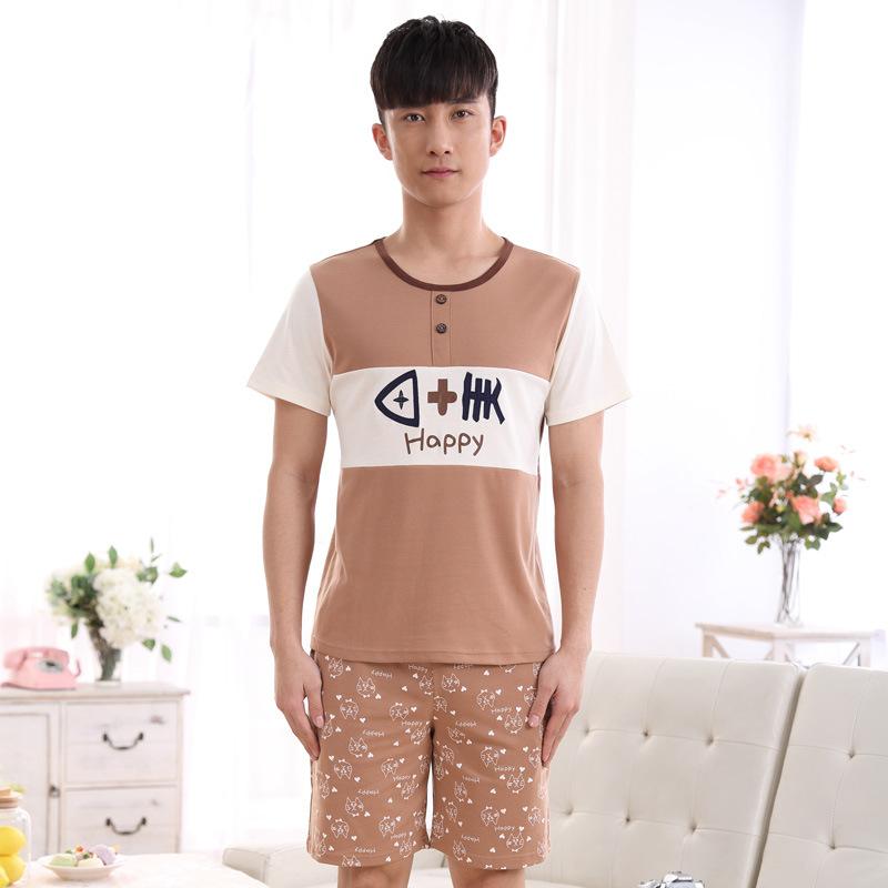 Summer Couple Cotton Pajamas Sets Women's Sleepwear Nighty Mens Pajamas Men's Sleep&Lounge Homewear Fashion Clothing(China (Mainland))