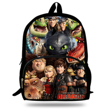 16-inch 2014 Boys Bags Kids Backpack How to Train Your Dragon Bag Pupil Book Bag Age 7-13 Children School Bags For Teenagers(China (Mainland))