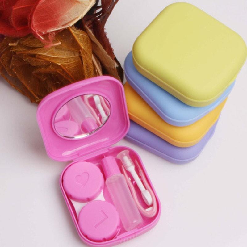 1шт карманный мини-контактные линзы дело поездки комплект легко нести держателя зеркала контейнера