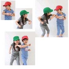Kids Cotton Military Hats soldiers topped Cap Children Casual Sun hat UV Stop Curved Visor Peaked Cap Child Solid Cotton Hats(China (Mainland))