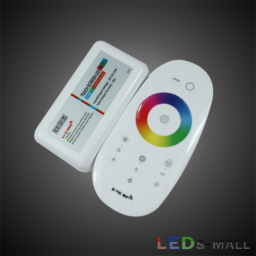 RF Weriless controller for RGB LED strip,2.4G,6A*3,Max:192W,Input DC 12V,With Touch panel controller,High quality.Free shipping(China (Mainland))