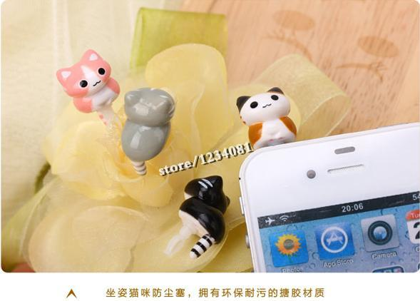 HOT Super lovely cat toys cheese cat climb squatting cat for iphone Samsung millet phone(China (Mainland))
