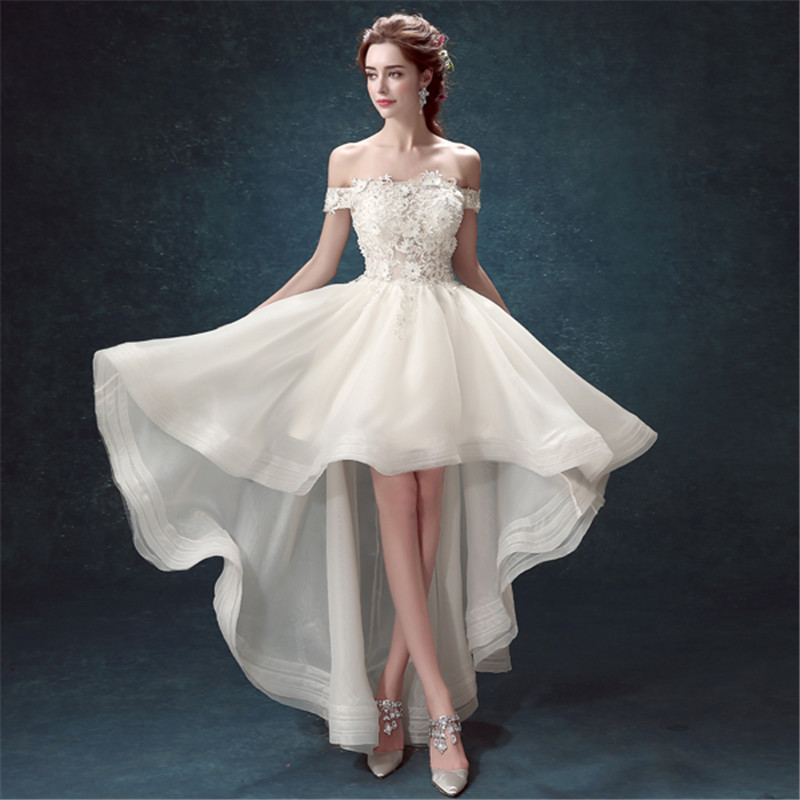 Gorgeous Wedding Dress Short In Front Long In Back | Style Fashionista