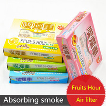 1Pc Car Perfume Outlet Sachet Air Freshener Car Outlet Balm Box Fruits Hour Box Absorbe Smoke(China (Mainland))
