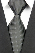 CON98 Black White Dot Striped Multicolor Smooth Jacquard Woven Classic Silk Polyester Man's Business Luxury Tie Casual Necktie(China (Mainland))