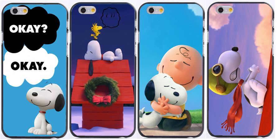 hot THE PEANUTS MOVIE Woodstock Charlie Brown printed Plastic hard cases for iphone 6s case 6 6s plus 5s 5c 4s(China (Mainland))