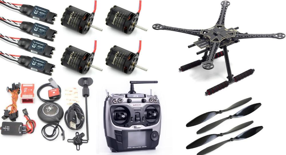 RTF S500 SK500 PCB Quadcopter + Landing Gear Sunnysky X2216 880KV Brushless Motor + Hobbywing Xrotor 40A ESC Radiolink AT9 AT10(China (Mainland))