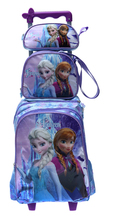 new arrival FZ children trolly school bag set trolley luggage backpack kids luggage 3pc one set for girls(China (Mainland))