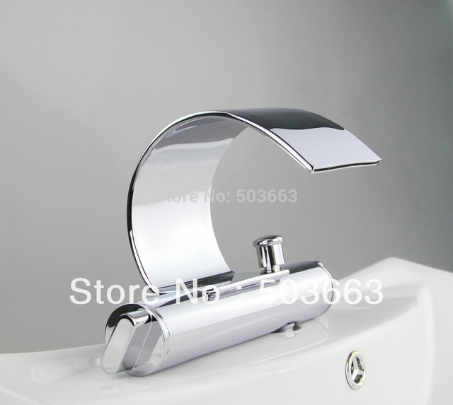durable solid brass chrome finish deck mount bathroom faucet basin tap sink faucet vessel mixer vanity faucet L-1003