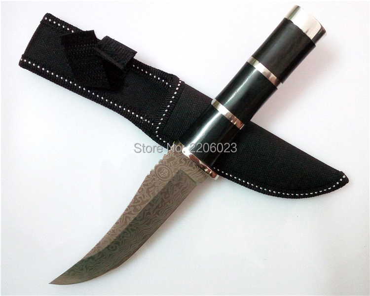Buy Outdoor Fixed Blade Knife Stainless Steel Blade Camping Survival Hunting Knife EDC Gift Knives cheap