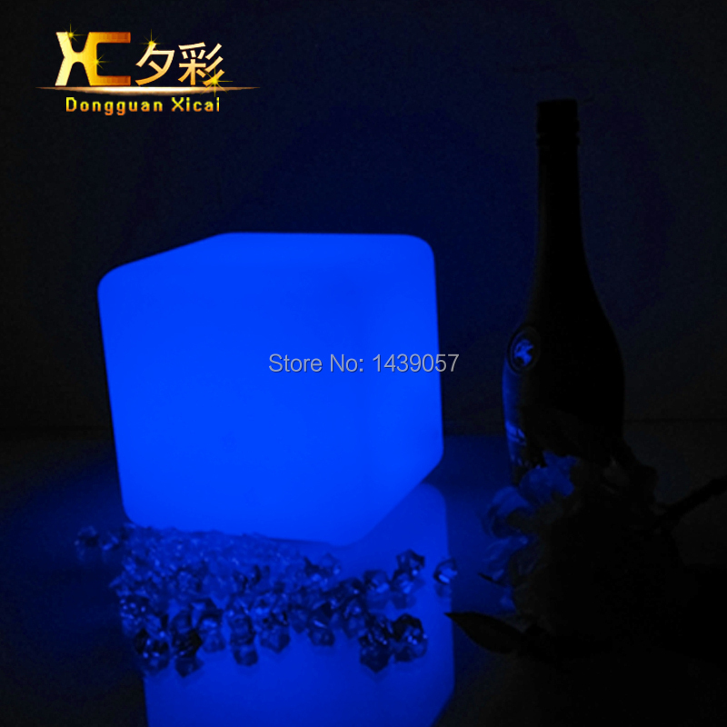 LED Table Lamp Plastic Decor Cube Night Light Color Changing For Bedroom Bar Club Atomosphere Lights(China (Mainland))