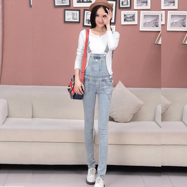 Большой размер брюки новое поступление женские джинсы брюки нагрудник полукомбинезон ...