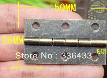 50 * 28 mm archaize hinges, wooden gift box hinges, cabinet hinges, box packing small accessories 2 inch hinge