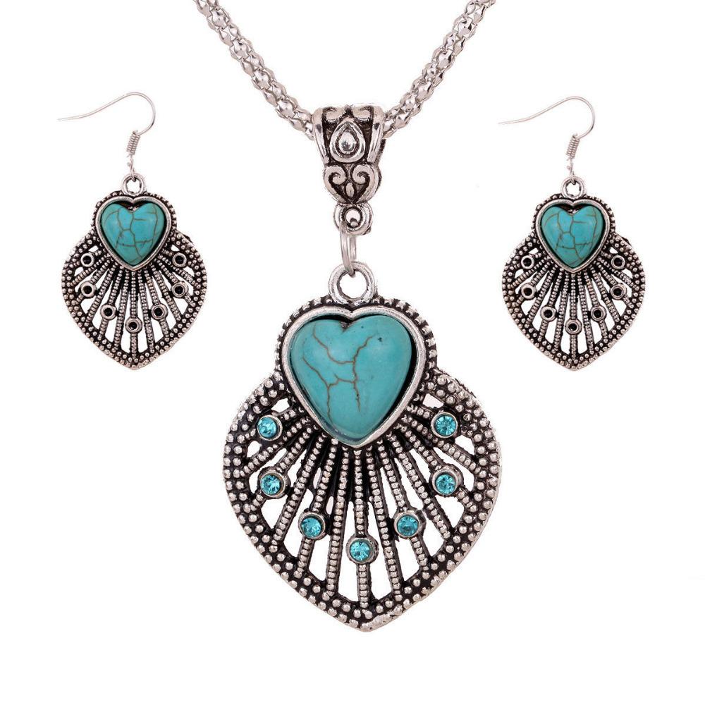 Free shipping fashion jewelry turquoise inlay carved for Turquoise colored fashion jewelry