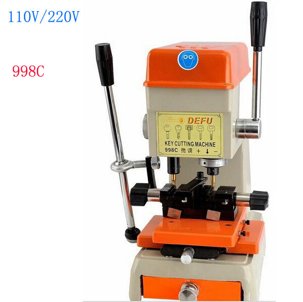 Free shipping by DHL 1pcs 998C Best Key Cutting Machine ford Voltage From 220V to 230V or 110v to 130v Can Supply(China (Mainland))
