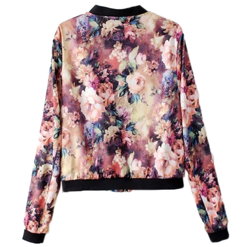 Womens Floral Bomber Jacket