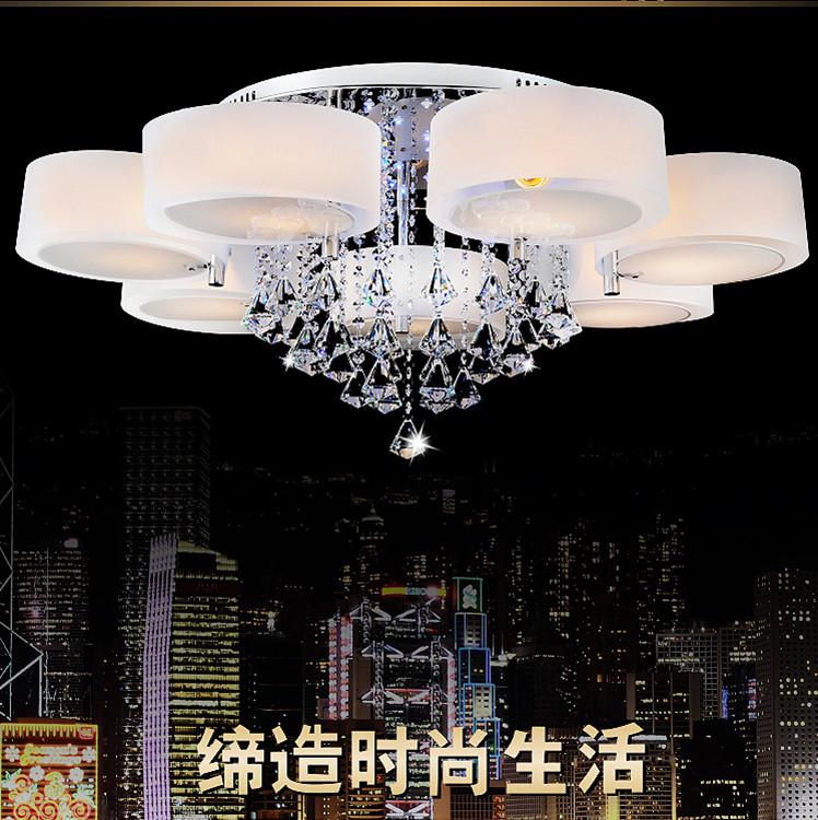 Modern Brief Fashion Romantic Led Crystal Ceiling Light