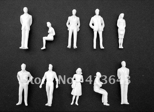 Гаджет  200pc 1:50 HO Scale Model White Unpainted Figures / People None Строительство и Недвижимость