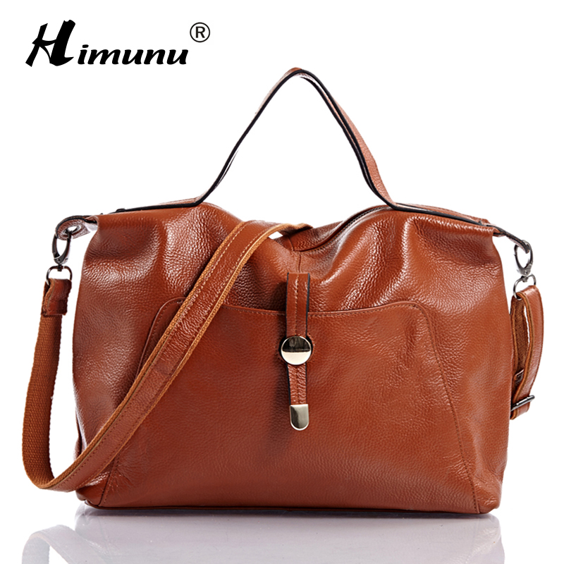 [HIMUNU] Private customized Pocket ! High Quality 100% Real Leather Hobos Bags Cowhide Genuine Women Leather Handbags Messenger(China (Mainland))